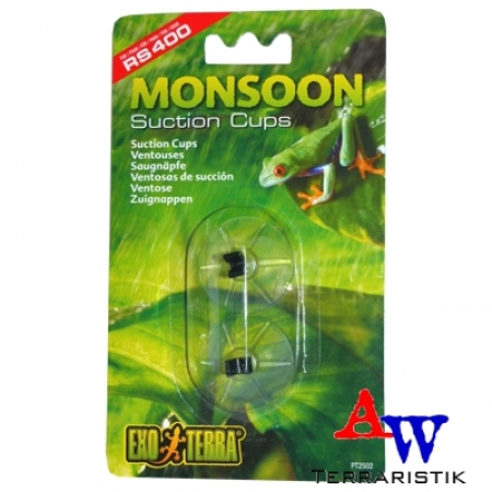 ExoTerra - Monsoon Suction Cups - Saugnäpfe - 2er Pack