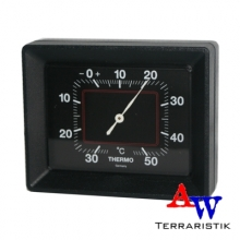 Thermometer - analog - schwarz - 100x80x37 mm