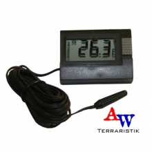 Digitales Thermometer, schwarz mit Kabel 2,5m