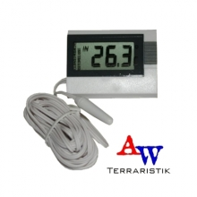 Digitales Thermometer, weiß mit Kabel 2,5m